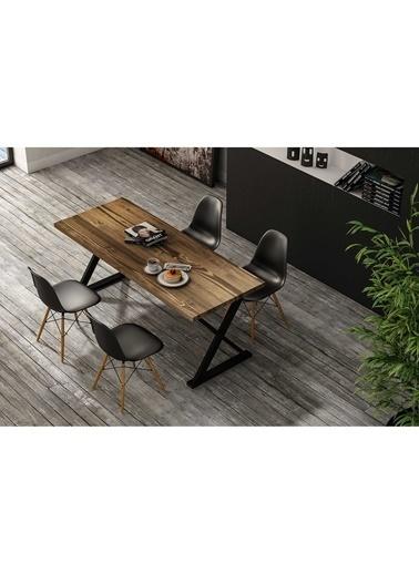 Woodesk Rıhtım Masif Ceviz Renk 180x80 Yemek Masası CPT7309-180 Kahve